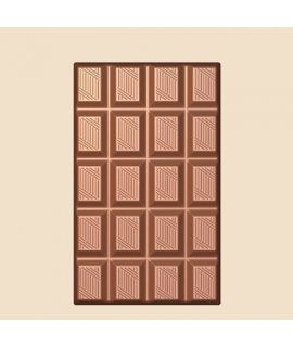 MOLDE TABLETA CHOCOLATE 87x53 H=7,2mm. 2x2und. 35grm