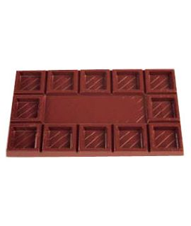 MOLDE TABLETA CHOCOLATE 119x68 H=7mm. 2x2und. 45gr