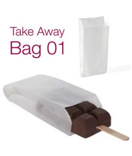 BOLSA PAPEL HELADO 'TAKE AWAY BAG 01' 6x13+3cm (PACK 1000)