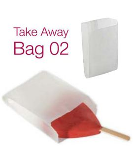 BOLSA PAPEL HELADO 'TAKE AWAY BAG 02' 9x13+3cm (PACK 1000)