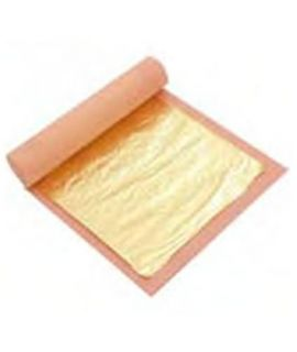 DECOR.ORO ALIMENT.PACK 25 Hojas.8x8cm