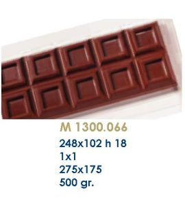 MOLDE TABLETA CHOCOLATE248x102 H=18mm.1und.500gr