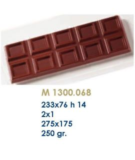 MOLDE TABLETA CHOCOLATE233x76 H=14mm.2x1und.250gr