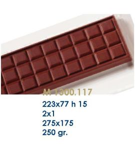 MOLDE TABLETA CHOCOLATE223x77 H=15mm.2x1und.250gr