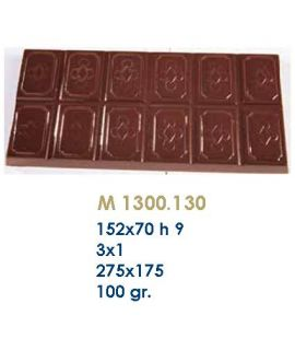 MOLDE TABLETA CHOCOLATE 152x70 H=9mm.3x1und.100gr