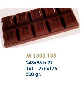 MOLDE TABLETA CHOCOLATE243x98 H=27mm.500gr