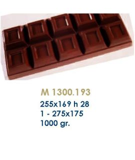 MOLDE TABLETA CHOCOLATE255x169 H=28mm.1und.1000gr