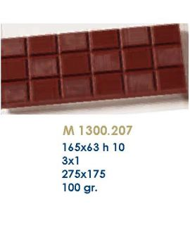 MOLDE TABLETA CHOCOLATE 165x63 H=10mm.3x1und.100gr