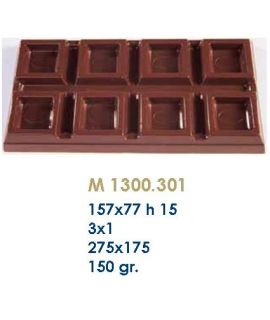 MOLDE TABLETA CHOCOLATE 157x77 H=15mm.3x1und.150gr