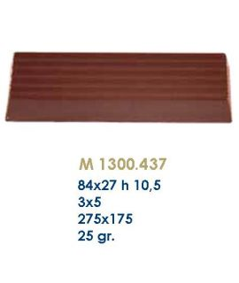 MOLDE TABLETA CHOCOLATE 84x27 H=10,5mm.3x5und.25gr
