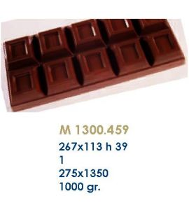 MOLDE TABLETA CHOCOLATE267x113 H=39mm.1und.1000gr