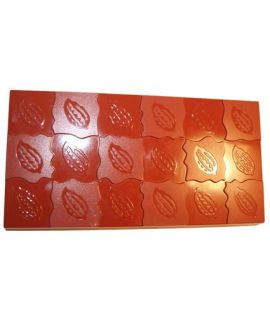MOLDE TABLETA CHOCOLATE HABA 150x80 H=12mm. 3und. 165gr