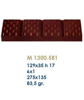 MOLDE TABLETA CHOCOLATE129x35 H=17mm. 6x1und.83,5gr