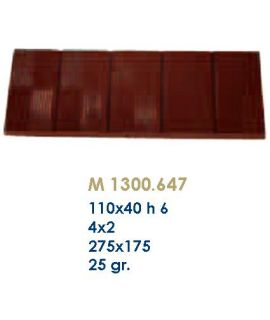 MOLDE TABLETA CHOCOLATE110x40 H=6mm.25gr