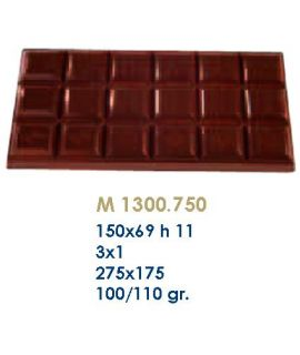 MOLDE TABLETA CHOCOLATE150x69H=11mm.3x1 100gr