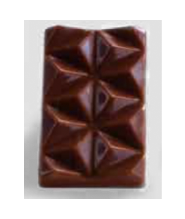 MOLDE TABLETA CHOCOLATE 42x25 H=6mm.4x5und.4gr