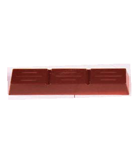 MOLDE TABLETA CHOCOLATE 78x19 H=10mm. 2x10und.15gr