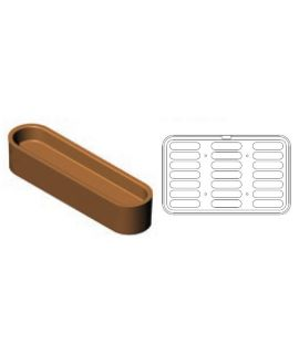 PLACA COOKMATIC MAXI '38' ECLAIR 126x32mm H=15mm(21und)