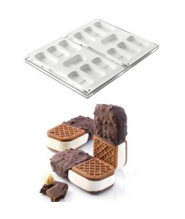 MOLDE 'COOKIEFLEX MINI-CROCK 2PCS' 89,5x45 H=20mm