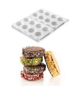 MOLDE 'COOKIEFLEX MINI-DISCOTTO 2PCS' Ø63 H=22mm