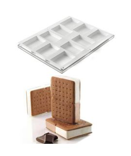 MOLDE 'COOKIEFLEX DOUBLE 2PCS' 68x99 H=20mm