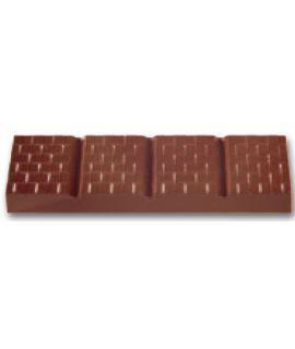MOLDE TABLETA CHOCOLATE 129x35 H=17mm. 6x1und.83,5gr