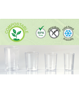 VASOS COMPOSTABLES CILINDRICOS (Pack 100)